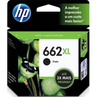 CARTUCHO ORIGINAL HP 662XL PRETO CZ105AB 6.5ML