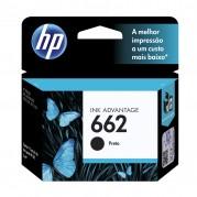 CARTUCHO ORIGINAL HP 662 PRETO CZ103AB