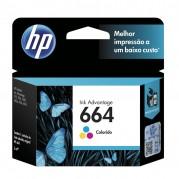 CARTUCHO ORIGINAL HP 664 TRICOLOR 2ML F6V28AB