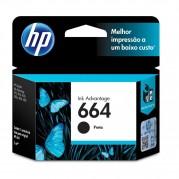 CARTUCHO ORIGINAL HP 664 PRETO 2,0ML F6V29AB