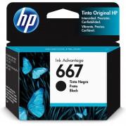 C.I. HP 667 - 3YM79AL PRETO P/ DESKJET 2376/2776/6476 REND. - C.I. HP 667 - 3YM79AL PRETO P/
