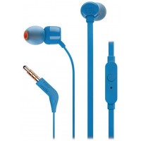 FONE JBL T110 AZUL COM MICROFONE