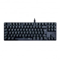 TECLADO MECECANICO BORA PRETO SINGLE COLOR RED SWITCH AZUL